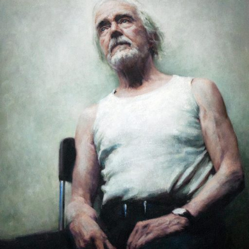 Full-time study - oil-painted portrait-Bryan-by tutor Luca-Indraccolo