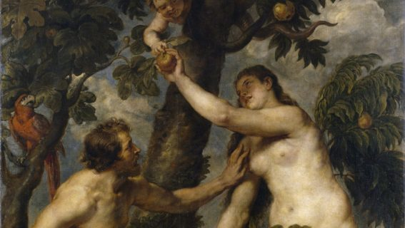 Close-Up - Adam And Eve In The Earthly Paradise, Rubens