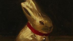 Lindt bunny painted by Simon Watkins