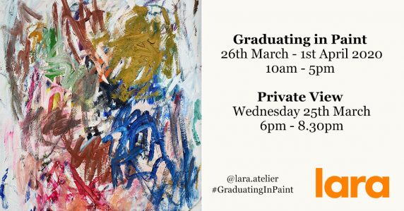 Graduating in Paint exhibition