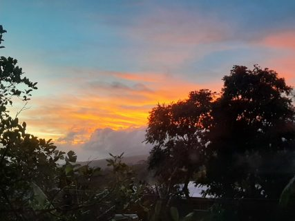 Samoa sunset - Lydia Cecil art residency